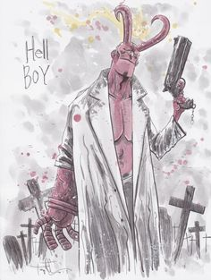 Hellboy by Ben Templesmith
