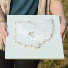 gift, craft, heart, ohio, map