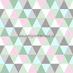 Trendy ruiten 137-128 706 | behang Everybody Bonjour van Esta For Kids | kleurmijninterieur.nl