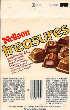 Neilson Treasures - my favourite chocolate bar as a kid 1970s Candy, Retro Candy, Vintage Candy, Canadian Beer, Canadian Things, Candy Recipes, Snack Recipes, Snacks, Retro Recipes