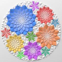 Origami mosaic Flowers