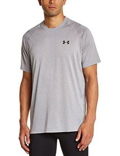 Under Armour Men's Tech Short Sleeve Tee, True Gray Heather (025), X-Large - http://www.exercisejoy.com/under-armour-mens-tech-short-sleeve-tee-true-gray-heather-025-x-large/athletic-clothing/