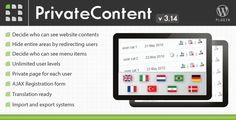 PrivateContent it's a simple and fast solution to power up your wordpress website by adding a multilevel login, private areas, user private pages and users management features. It's easy to use and doesn't require any scripting knowledge!