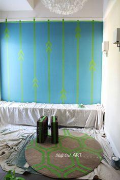 designs interessantes p pintar parede e tapete.