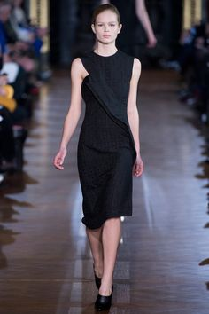 Stella McCartney little black cocktail dress from fall rtw 2013 collection
