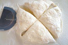 Μπαγκέτες χωρίς Ζύμωμα Bread, Ethnic Recipes, Food, Brot, Essen, Baking, Meals, Breads, Buns