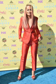 Rita Ora in Max Mara at the Teen Choice Awards