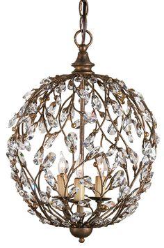 Crystal Vine Sphere Chandelier trendy lighting with crystals. transitional lighting. DesignNashville