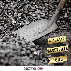 Bugün bir avuç kömür için bir ömür verenlerin günü #dekotrend #madencilergunu #maden #4aralik