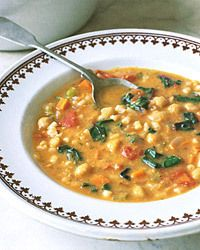 Swiss Chard and Chick Pea Soup-this is so good.  It tastes like something you would get at Olive Garden.