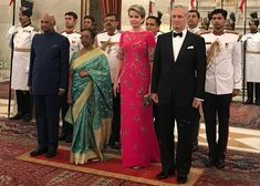 King Philippe and Queen Mathilde are on a 7-day visit in India, here hosted by President Shri Ram Nath Kovind and his wife Savita Kovind/ Nov. 7, 2017