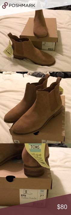 Toms size 7.5 Ella boot toffee shade Size 7.5 new in box with tags Toms Shoes Ankle Boots & Booties