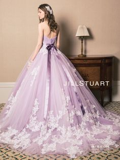 Pin on Gown Pin on Gown Lavender Wedding Dress, Colored Wedding Dresses, Quince Dresses, Formal Dresses, Quinceanera Dresses, Fantasy Dress, Beautiful Gowns, Dream Dress, Pretty Dresses
