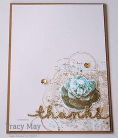 "Picture Perfect Timeless Texture from Stampin' Up! Tracy May (from SU 2016 Occasions + ""thanks"" = Annual),  (Pin#1: Thanks You.  Pin+: Glitzy..)."