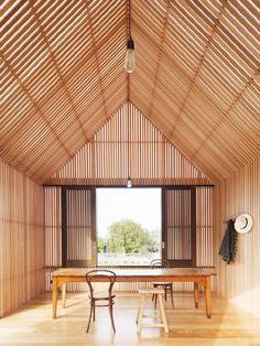 Leveza da madeira nas paredes