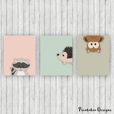 Nursery Art Printables 8x10 Download Woodland by PrintabooDesigns