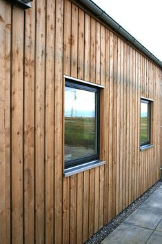 Cromartie Timber specialise in the production of fine sawn cladding, beams and pillars in locally sourced Scottish Larch and Douglas Fir. Wooden Cladding Exterior, Shed Cladding, Larch Cladding, Cladding Design, Wooden Facade, Exterior Siding, Exterior Design, Barn Siding, House Siding