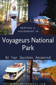 Voyageurs National Park is a watery, wilderness wonderland amid the Boundary Waters of Minnesota and is best explored via a houseboat rental. In this post, I will answer an array of questions I've recently received from my audience. #minnesota #nationalparks #houseboat #boating #vacationdestinations #usatravel #traveltips #vacationrentals #wilderness