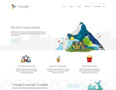 Triangle - Free Responsive Multipurpose Template, #Blog, #Bootstrap, #Coming Soon, #CSS, #CSS3, #Free, #Grid, #HTML, #HTML5, #Layout, #Masonry, #Portfolio, #Pricing Table, #Resource, #Responsive, #Template, #Web #Design, #Development
