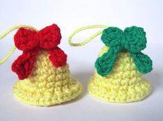 Crafteando, que es gerundio: Patrón: Campanas navideñas/ Pattern: Christmas bells