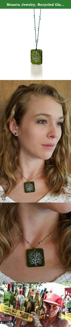 Moneta Jewelry, Recycled Glass Tree of Life Pendant Necklace, Handmade, Fair Trade, Unique Gift (Green). MAKE A STATEMENT Quality is the difference, and Moneta Jewelry takes pride in providing that and more to our public. We source our handmade necklaces from artisans committed to fair wages, safe working conditions and one-of-a-kind products. It's fair trade at its finest, and it means you're doing more than just wearing a necklace; you're wearing a piece of someone's passion, and giving...