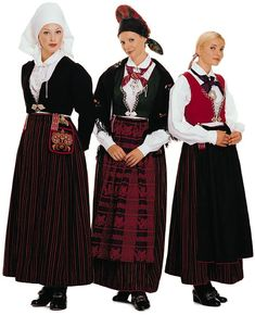 Stein Sjølie Vest-Agder, Female Bunad comes in three variants: a crinkled, puckered one and a striped Folk Costume, Costumes, Norwegian Clothing, Beautiful Norway, Snow Queen, Traditional Outfits, Folk Art, Vest, Textiles