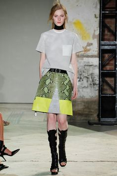 """""""Proenza ups the ante with stunning photo-prints, patchwork python and perforated leather."""""""