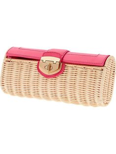 Milly for Banana Republic Patent Wicker Clutch, $120