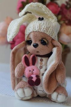 Bunny Button By Kicheva Olga - Bear Pile