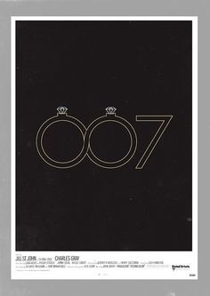 'Diamonds Are Forever' minimalist movie poster (by Olly Moss)