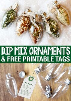 Dip mix ornaments are such a fun and unique edible Christmas gift idea! - Dip mix ornaments are such a fun and unique edible Christmas gift idea! Edible Christmas Gifts, Edible Gifts, Handmade Christmas Gifts, Christmas Holidays, Christmas Decorations, Food Gifts For Christmas, Christmas Gifts For Neighbours, Christmas Projects, Coworker Christmas Gifts