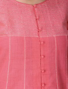 Best 12 Pink Front Slit Cotton Kurta with Tanka Work Neck Designs For Suits, Dress Neck Designs, Designs For Dresses, Sleeve Designs, Blouse Designs, Kurti Sleeves Design, Kurta Neck Design, Simple Kurti Designs, Kurta Designs Women