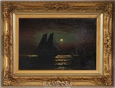 Moran, Ships in Harbor, O/C Investigations, Restoration, Auction, Ships, Painting, Art, Art Background, Boats, Painting Art