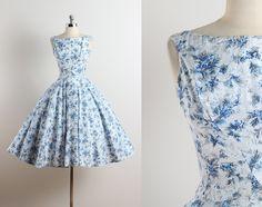 Vestido vintage años 50  vestido vintage de los años 1950
