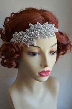 One of a KINDCrystal Rhinestone headband1920s and by yanethandco