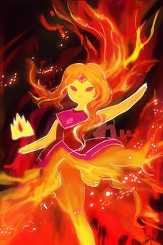 Flame princess will always be my favorite princess on adventure time Adventure Time Flame Princess, Adventure Time Princesses, Adventure Time Girls, Adventure Time Anime, Adventure Time Drawings, Cartoon Network Adventure Time, Marceline, Princess Art, Princess Quotes