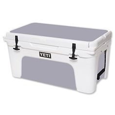 MightySkins Protective Vinyl Skin Decal for YETI Tundra 65 qt Cooler wrap cover sticker skins Solid Gray *** Continue to the product at the image link.(This is an Amazon affiliate link and I receive a commission for the sales)