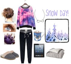 """""""Snow Day!"""" by livstyles123 ❤ liked on Polyvore"""