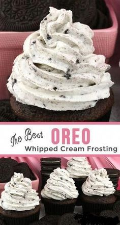 The Best Oreo Whipped Cream Frosting The Best Oreo Whipped Cream Frosting - tastes like whipped cream but frosts like buttercream with the perfect blend of Oreo Cookies 'n Creme flavor. This recipe is a keeper! A great frosting for the Oreo Cookie lover Cookies And Cream Frosting, Oreo Frosting, Chocolate Whipped Cream Frosting, Whipped Frosting, Homemade Frosting, Cupcake Icing Recipe, Flavored Whipped Cream, Strawberry Buttercream Frosting, Best Creme Frosting Recipe