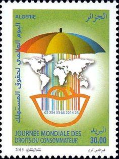 Stamp: World consumer rights day (Algeria) (World consumer rights day) Mi:DZ…