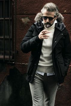 HERNO. Winter layers. Pop your shirt collar.