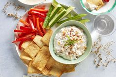 Get in the mood to party down with our Cheesy Bacon-Ranch Dip recipe. Serving Cheesy Bacon-Ranch Dip can be paired with cut-up veggies, baked chips, crackers or any number of your favorite dippable finger foods. Quick And Easy Appetizers, Easy Appetizer Recipes, Appetizer Dips, Yummy Recipes, Party Recipes, Recipies, Healthy Recipes, Kraft Recipes, Bacon Ranch Dip