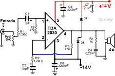 amplificador tda2030 fuente dual