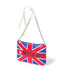 I love British boys bag-at Claire's