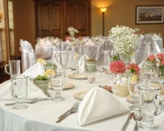 The Red Mill Inn - #Cheap #wedding & #reception #venue just outside of #Syracuse, #NY. Rental fees start at just $800 for a five-hour reception, including seating/linens and much more. Buffet prices start at just $29.95/pp. #upstateny #cny #mohawkvalley #baldwinsville Cheap Wedding Venues, Wedding Reception, Wedding Ideas, Red Mill, Park Weddings, Table Settings, Table Decorations, Lighthouse, Linens