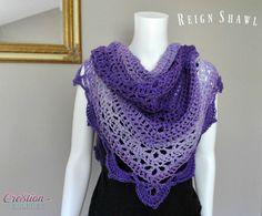 Reign Shawl free crochet shawl pattern by Cre8tion Crochet, #haken, gratis patroon (Engels), omslagdoek, #haakpatroon