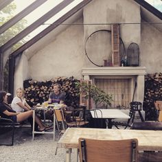 Rute Stenugnsbageri Glass House Garden, Home And Garden, Garden Design, House Design, Barns Sheds, Outdoor Landscaping, Unique Furniture, Outdoor Spaces, Terrace