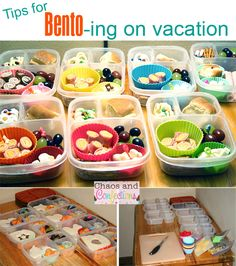 How to pack bento lunch boxes while on vacation.