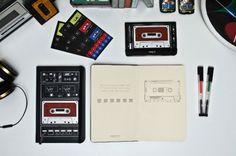 Da Moleskine il taccuino ispirato alle cassette musicali