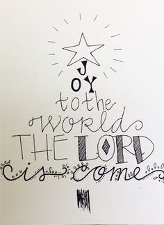 Joy to the world Christmas tree Christian religious by aliveletter, $1.50